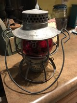 ANTIQUE RED GLOBE HURRICANE LAMP in Fort Knox, Kentucky