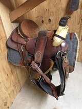 Roping saddle in Leesville, Louisiana