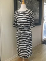 New with Tags! Brown and White Striped Dress Size 12 in Chicago, Illinois