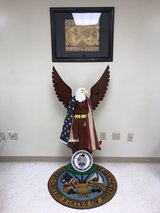 Wooden Eagle display in DeRidder, Louisiana