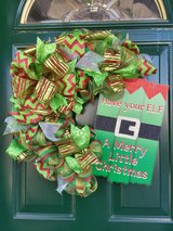 Elf Wreath in Naperville, Illinois