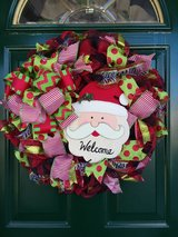 Santa Wreath in Naperville, Illinois