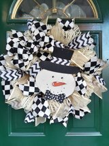 Snowman Wreath 1 in Naperville, Illinois