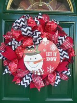 Snowman Wreath 2 in Naperville, Illinois