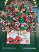 Santa Mesh Wreath in Naperville, Illinois