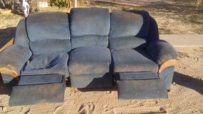 Free 8 foot couch with recliners at both ends. in 29 Palms, California