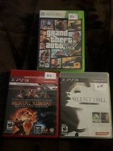 Grand Theft XBOX 360, Mortal Kombat PS3, Silent Hill PS3 in Spring, Texas