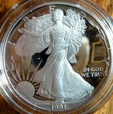 1991S American Silver Eagle Dollar in Ramstein, Germany