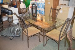 Glass Top Table and 4 Chairs in Fort Lewis, Washington