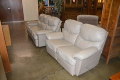 Leather Dual Reclining Sofa & Love Seat in Fort Lewis, Washington