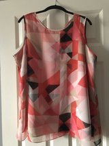 Vince Camino 1x plus size tank with sheer overlay in Naperville, Illinois