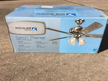 KICHLER SAXON PREMIER CEILING FAN and LIGHT KIT - Brand New in Houston, Texas