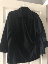Avenue 18/20 plus size wrap blouse, black in Naperville, Illinois