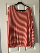 Sejour (Nordstrom house brand) orange striped top, plus size, 3x in Naperville, Illinois