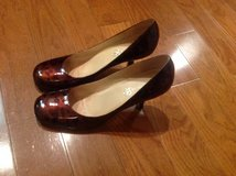 Women's Boutique 58 leather high heels pumps leopard print shoes size 9M in Camp Lejeune, North Carolina