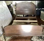 Antique solid wood full size bed in Vacaville, California