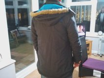 superdry parka  black -blue in Lakenheath, UK