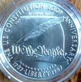 1987-P CONSTITUTION COMMEMORATIVE SILVER DOLLAR in Baumholder, GE