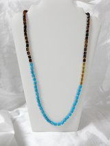 Fossil Turquoise Bead Necklace Long New in Fort Rucker, Alabama