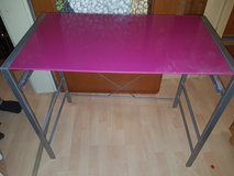 Girly desk, with glass top in pink in Ramstein, Germany