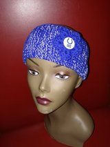 Knitted COLTS headband in Fort Hood, Texas