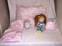 Handmade Pink Pillow, Fleece baby floral blanket, tooth pillow, Fancy Nancy doll, in Camp Lejeune, North Carolina
