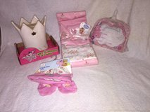 Princess Crown Bank, Baby cap and booties, Baby announcement pillow, 2 baby blankets in Camp Lejeune, North Carolina