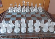 Glass Chess Set in Fort Rucker, Alabama