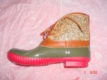 WOMENS SIZE 8 GLITTER DUCK BOOTS in Fort Knox, Kentucky