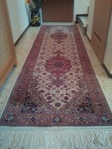 Vintage hand-knotted Runner Carpet Rug about 300 X 90 cm in Wiesbaden, GE