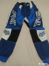 BOYS FOX MOTO PANTS-BLUE & WHITE in Fort Polk, Louisiana