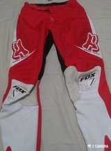 BOYS FOX MOTO PANTS- RED & WHITE in Fort Polk, Louisiana