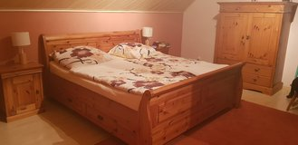 Bedroom Set,Solid Pine in Ramstein, Germany