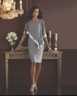 Mercedes Sequin Grey Dress Size 16W in Houston, Texas