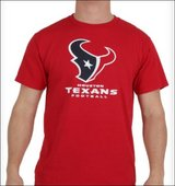 NWT Houston Texans Men's Medium Tee T-Shirt Watt AFC NFL Watt Watson Play Offs NFC in Kingwood, Texas