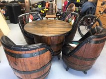Whiskey Barrel table & 4 chairs in Ruidoso, New Mexico