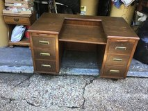 Antique Solid Wood Desk in Kingwood, Texas