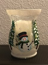"8"" Snowman Hurricane Vase w/Flameless Candle in Alamogordo, New Mexico"
