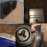 """(2) 12"""" subwoofers in box and amp in Camp Pendleton, California"""