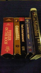 Musicals on VHS (lot 8) in Baytown, Texas