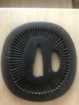 Open work Tsuba  pierced Wakizashi size in Okinawa, Japan