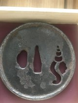 Large sized rimmed Tsuba of Konch Shell in Okinawa, Japan