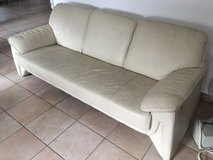 CREAM  (REAL) LEATHER COUCH in Stuttgart, GE