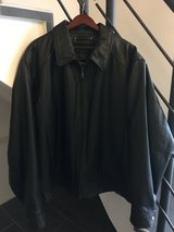 Men's Leather Bomber Jacket Insulated in Ramstein, Germany