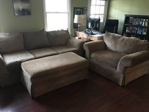 Moving Sale: Couch Set, 2 Bedroom Sets, Office Set, Futon in Cherry Point, North Carolina