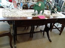 Drop-Leaf Table with Brass Claw Feet #1715-855 in Camp Lejeune, North Carolina