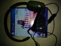 Battlefield 5 and headset ps4 in Macon, Georgia
