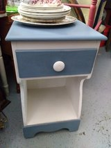 Blue & White Night Stand Table in New Lenox, Illinois