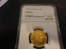 1875 Norway 20K ms64+ gold coin in Fort Campbell, Kentucky