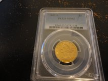 1882-s ms63 pcgs graded gold  liberty head $5 gold coin in Fort Campbell, Kentucky